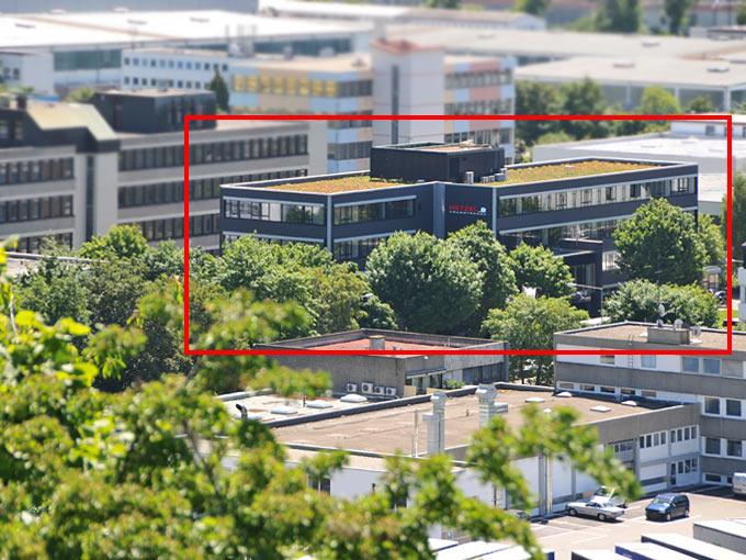 Ansicht auf das Gebäude